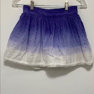 Justice Girl's Purple & White Ombré Skirt